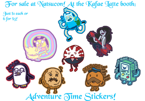 Adventure Time Stickers by Kafae-Latte
