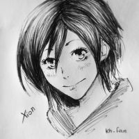 Xion pen sketch by Cate397