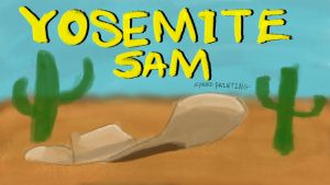 Thumbnail/titlecard for yosemite sam speed drawing by IDROIDMONKEY