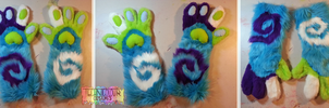 (SOLD) Technicolour Swirl Paws by TECHNlCOLOUR