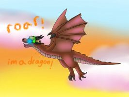 Pewdiepie the dragon! by Wolfywingedwolf