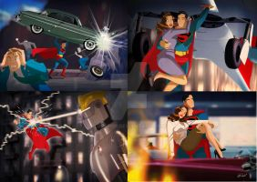 Superman Saves Lois Lane by DESPOP