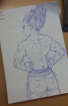 Vegeta sketch 19-01-17 by nenee