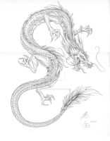 Asian Dragon Tattoo by BrokenRapture781