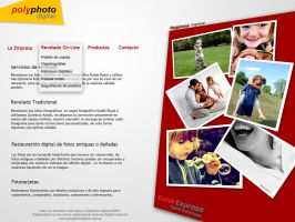 Polyphoto website WIP by angelelectrico