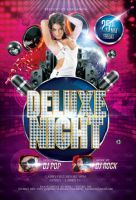 Deluxe Night Party Flyer by caniseeu