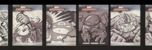 Marvel Sketch Cards Set 5 of 5 by soliton