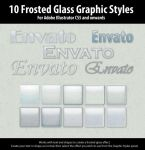 10 Frosted Glass Graphic Styles for Illustrator by ChewedKandi