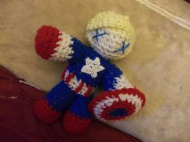 Captain America amigurumi by PlushieFearless
