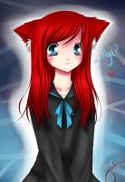 Cat Girl - Colored by juliaatje123