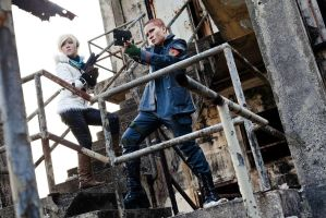 Resident Evil 6 JAKE and Sherry by roadscream