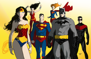DC Trinity and Co. by theSN3S