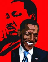 King and Obama by cassodinero