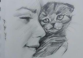 manditory daily cat sketch 591 by nosoart