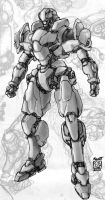 Sketch- Mecha 6 by Rawbot