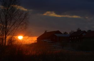 Sunset at the Farm by HenrikSundholm