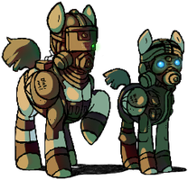 Prototype Blackwatch Ponies by GasMaskMonster