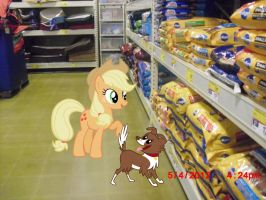 Applejack Shopping by TokkaZutara1164