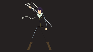Yato (Noragami) Minimalist Wallpaper by greenmapple17