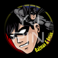 Batman and Robin Pin by EvilFuzz