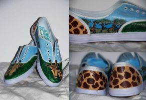 Giraffe Shoes by aarontheawesome