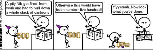 Not Quite The 500th Cartoon by niboswald