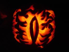 The Eye of Sauron Pumpkin by Tophoid
