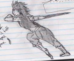 The Girl with the Sword Arm Concept Sketch by RC-Iname