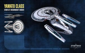Yamato Class Starship for Star Trek Online by thomasthecat