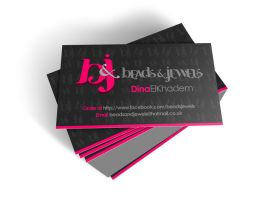 Beads and Jewels Business Card by XtrDesign