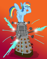 MLPFIM: Pony vs. Dalek 4 -- Rainbow Dash by the-gneech