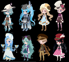 DTA selfy adopts (closed) by i-am-a-fangirl