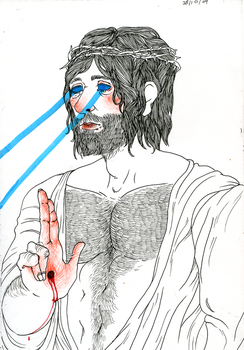 jesus 'laser' christ by Geeles