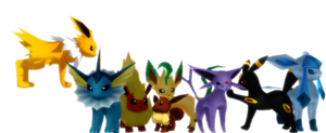 [MMD] Eeveelution Facebook Cover Photo by Snorlaxin