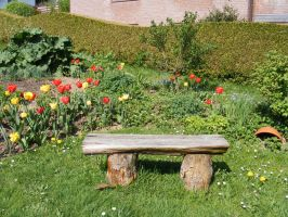 Wooden Bench by Lengels-Stock