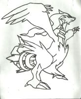 Reshiram Sketch by CoolMan666