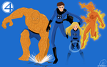1 More Day Left: United Fantastic Four [Wallpaper] by xxiiCoko