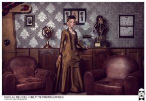 Steampunk bustle dress 1870 by Esaikha