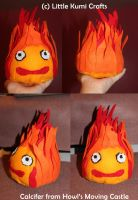 Calcifer chibi plush From Howl's Moving Castle by vklolita