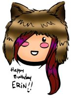 Happy Birthday Erin by ChibiCelina