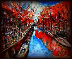 Amsterdam in Red by TamiTw