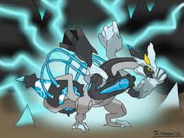 Black Kyurem in Overdrive Mode by FlaringBlaze
