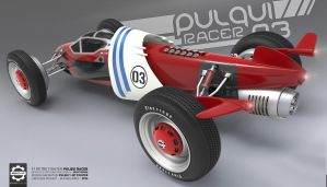 Pulqui Racer - F1 Retro Fighter - Rear by Secap