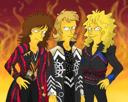 Judas Priest in Simpson style by Leather-lynx