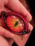 Large Fire eye by BacktoEarthCreations