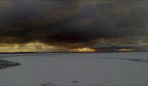 Heavy Snow-clouds Over The Archpelago January 31 by eskile