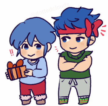 Christmas and IkeMarth! by dottedclouds