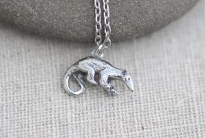 Tamandua Necklace by MonsterBrandCrafts