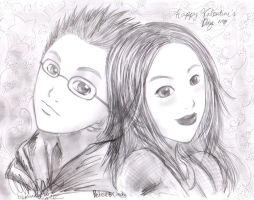 Portrait: from Cindy to Peter by bommie