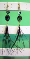 Abalone - Peacock Earrings by BloodRed-Orchid